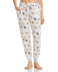 Jane & Bleecker New York Sailboat - Print Jogger Pants - White