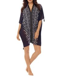 Miraclesuit Labyrinth Caftan Cover Up - Black