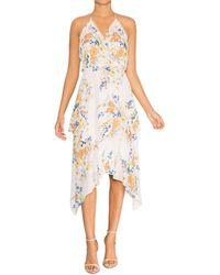 Parker Clora Printed Maxi Dress - White