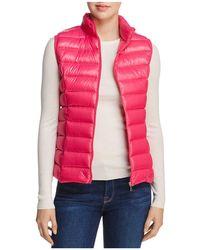 Aqua Packable Down Vest - Pink