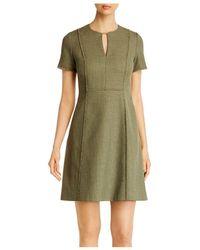 Elie Tahari Ariel Tweed A-line Dress - Green