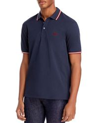 Bally Slim Fit Colour Tipped Polo Shirt - Blue
