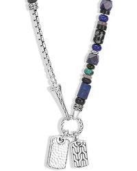 John Hardy Sterling Silver Classic Chain Lapis Lazuli - Metallic