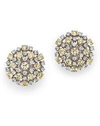 Roberto Coin 18k Yellow & White Diamond Cluster Earrings
