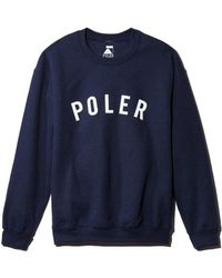 Poler - State Graphic Crewneck Sweatshirt - Lyst