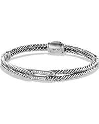 David Yurman - Petite Pavé Labyrinth Mini Loop Bracelet With Diamonds - Lyst