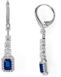 Nadri - Zelda Crystal Drop Earrings - Lyst
