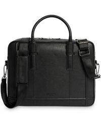 Ted Baker Leather Document Bag - Black