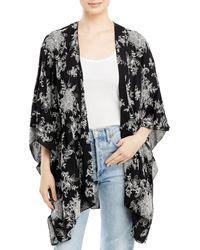 Karen Kane Embroidered Kimono Style Jacket - Black