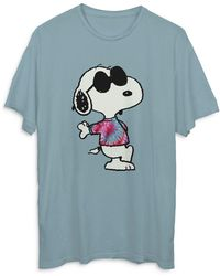 Junk Food Snoopy Graphic Tee - Blue