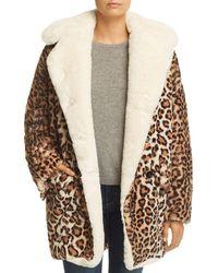 The Kooples - Oversize Faux-fur Leopard-print Coat - Lyst