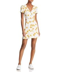 Re:named - Kate Floral Mini Dress - Lyst