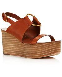 c3cc700cb7c45 Tory Burch - Women s Ravello Platform Sandals - Lyst