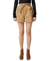 Maje Ipure Mini Shorts - Natural