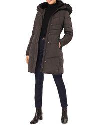 Hobbs Lettie Faux Fur Trimmed Puffer Jacket - Multicolour