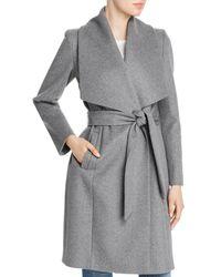 Cole Haan Slick Wrap Coat - Gray