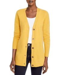 C By Bloomingdale's Cashmere Grandfather Cardigan - Yellow