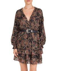 The Kooples Tanger Bandana - Print Silk - Blend Dress - Black