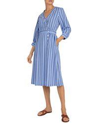 Gerard Darel Sandy Striped Midi Dress - Blue