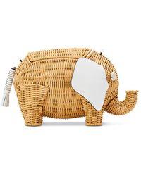 Kate Spade Große Tiny Weidenumhängetasche In Form Eines Elefanten - Multicolour