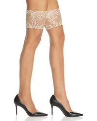 Natori Silky Sheer Lace Top Thigh - Highs - Multicolour