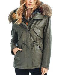 Sam. - Multi Mini Luxe Limelight Fur Vest & Parka - Lyst