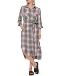 Billy T Plaid Midi Shirt Dress - Multicolour