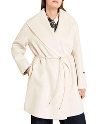 Marina Rinaldi Tardi Belted Coat - Multicolour