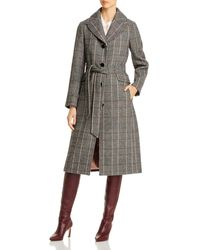 Kate Spade Glen Plaid Belted Long Coat - Multicolor