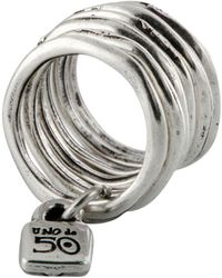 Uno De 50 Stacked Lock Ring - Metallic