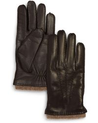 Bloomingdale's Napa Tech Palm Glove - Brown