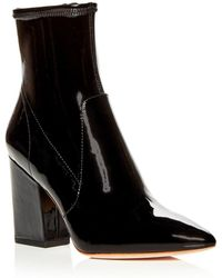 edc2cdc4f954 Loeffler Randall - Women's Isla Patent Leather Block - Heel Booties - Lyst