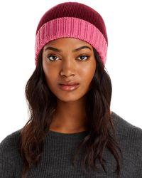 Aqua Colorblock Knit Hat - Brown