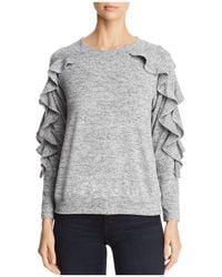 Avec | Ruffle Sleeve Sweater | Lyst