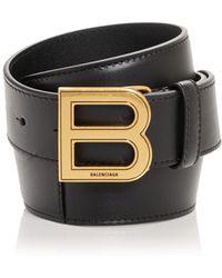 Balenciaga Hourglass Large Leather Belt - Black