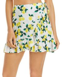 Aqua Swim Ruffled Mini Skirt Cover Up - Multicolour