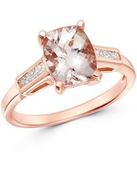 Bloomingdale's Morganite & Diamond Ring In 14k Rose Gold - Metallic