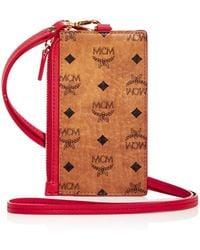 MCM Visetos Original Name Tag Card Case - Red