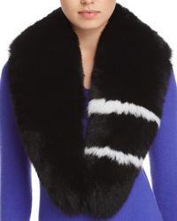 Surell - Fox Fur Stole Scarf - Lyst