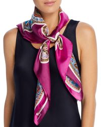 Echo Intricate Paisley Silk Scarf - Multicolor