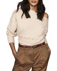 Reiss - Coco Off - The - Shoulder Ribbed Sweater - Lyst