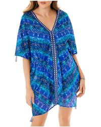 Miraclesuit Blue Curacao Caftan Swim Cover - Up