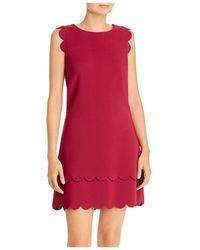 Betsey Johnson Scalloped Shift Dress - Red