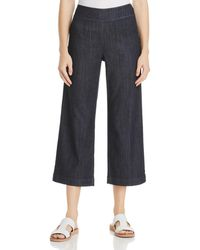 NIC+ZOE Nic+zoe Petites Summer Day Wide - Leg Jeans In Midnight Wash - Blue