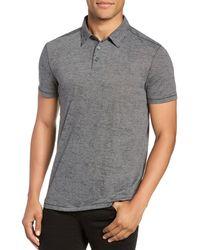 John Varvatos John Varavtos Star Usa Burnout Slim Fit Polo Shirt - Gray