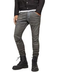 ee024763abf G-Star RAW - 5620 3d Knee Zip Super Slim In Loomer Gray - Lyst