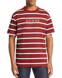 Guess - Striped Logo T-shirt - Lyst