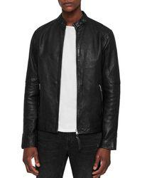 AllSaints - Cora Leather Moto Jacket - Lyst