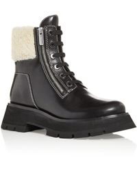 3.1 Phillip Lim - Kate Shearling Platform Booties - Lyst