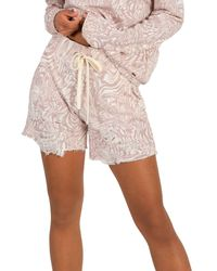 n:PHILANTHROPY Coco Printed Distressed Shorts - Multicolour